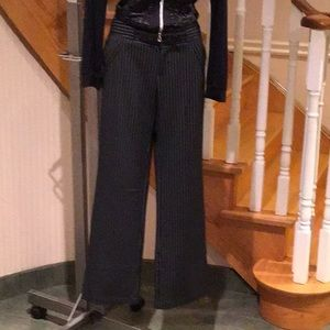 ⬇️Black/ white pinstripe pants with suede pockets